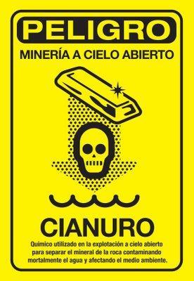 Perigo! minería a ceo aberto.