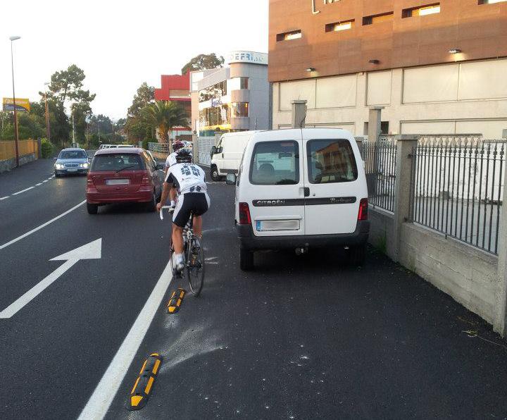 Imaxen do carril-bici Vigo-Nigrán