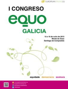 Cartel I Congreso de EQUO Galicia