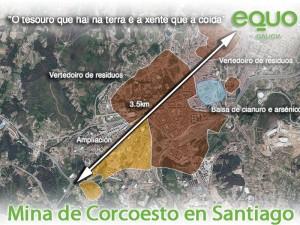 Mina Corcoesto proxectada en Santiago de Compostela