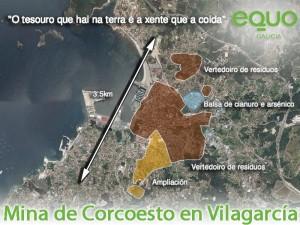 Mina Corcoesto proxectada en Vilagarcía de Arousa