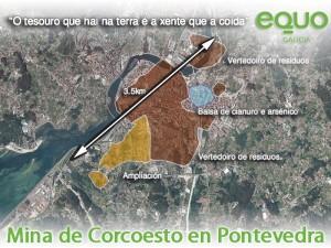 Mina Corcoesto proxectada en Pontevedra