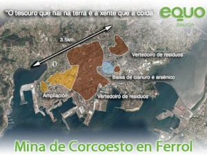 Mina Corcoesto proxectada en Ferrol
