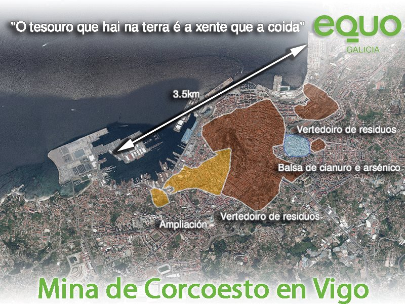 Mina Corcoesto proxectada en Vigo