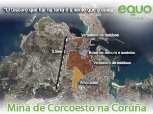 Mina Corcoesto proxectada na Coruña