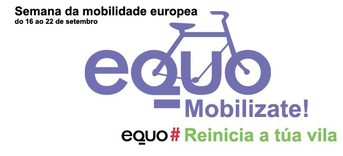 Logo de EQUO Pontevedra para a Semana Europea da Mobilidade: do 16 ao 22 de setembro