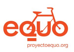 Logo de EQUO con bicicleta incorporada :-)