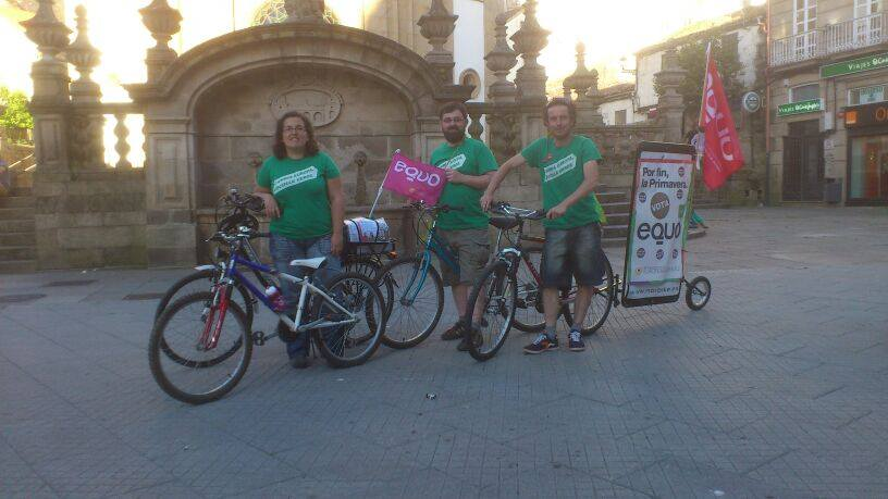 EQUO*! de bici-roteiro por Pontevedra