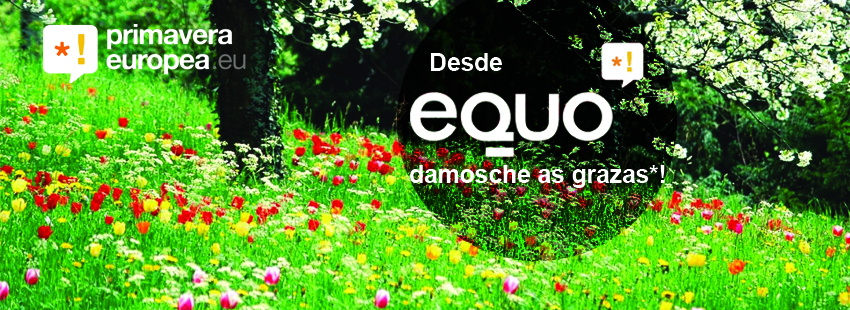 Imaxe de agradecemento a todos os apoios recibidos. Graciñas desde EQUO Galicia!