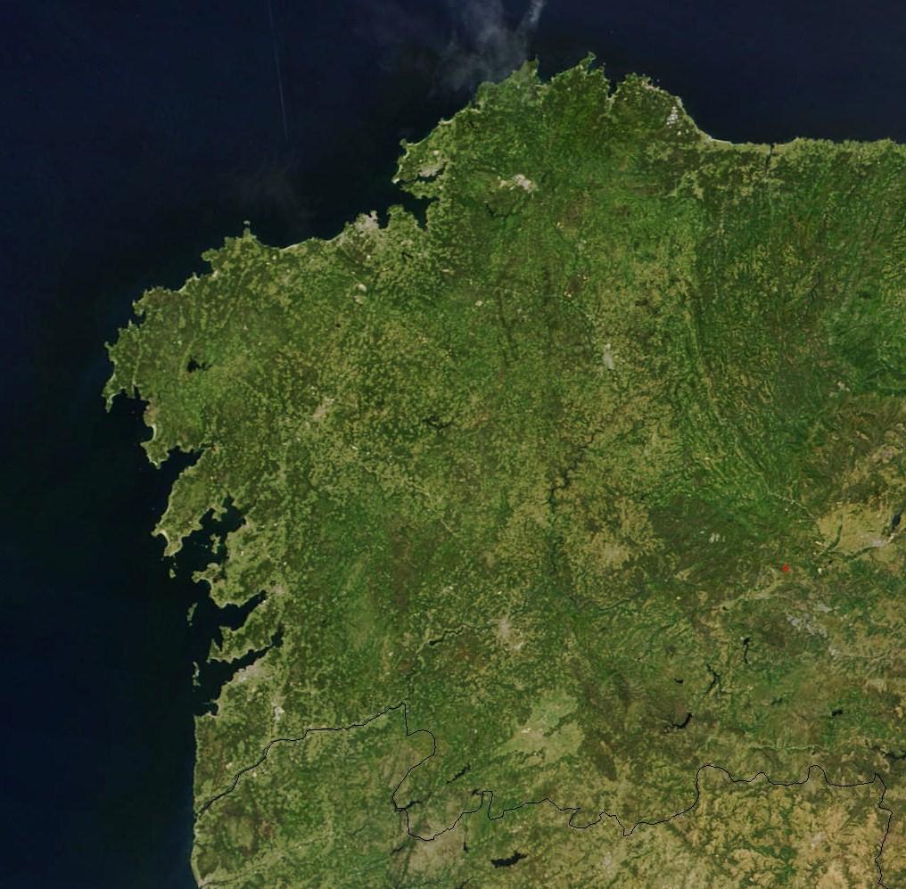 Galicia vista desde un satélite da NASA