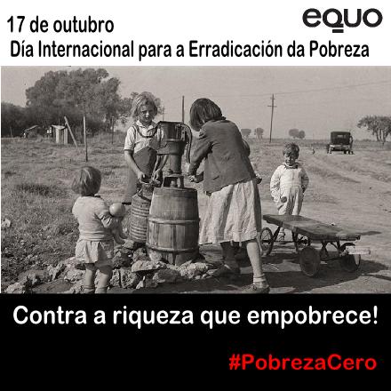 Imaxe conmemorativa de EQUO Galicia para o Día da Erradicación da Pobreza 2014