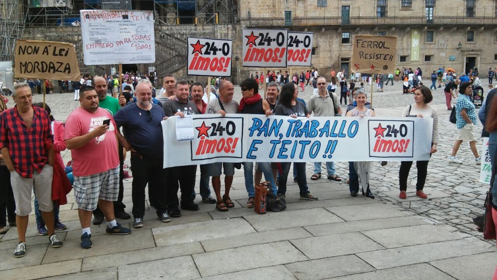 Foto da presentación de hoxe das Marchas da Dignidade