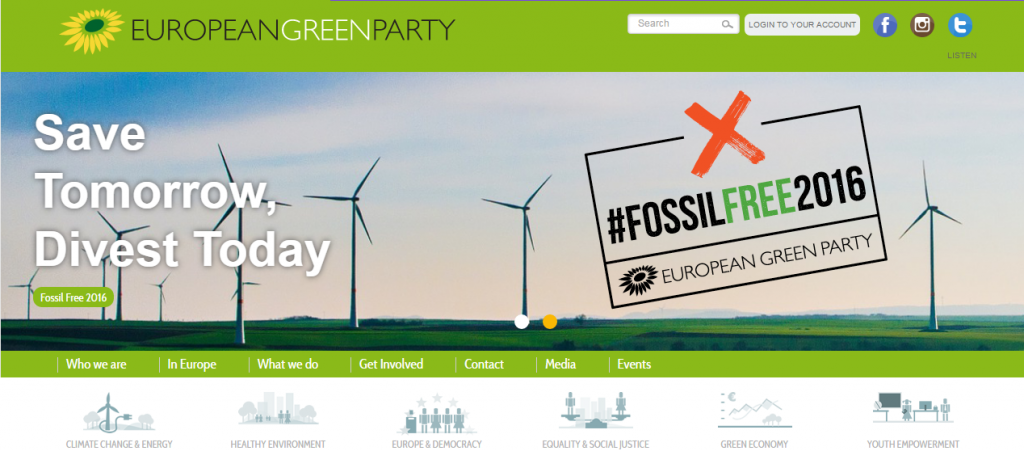 capture web green party