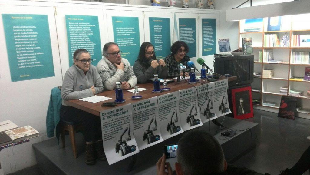 rolda de prensa Plataforma Lugo de Cara  ao Miño