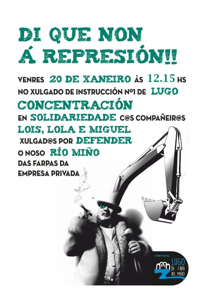 cartaz Plataforma Lugo de Cara  ao Miño